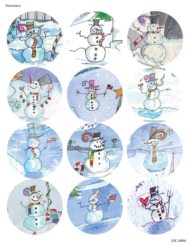 Snowmen - 24 Pack of 2.5
