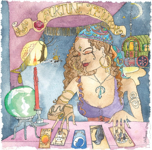 Fortune Teller - 5x5 Greeting Card