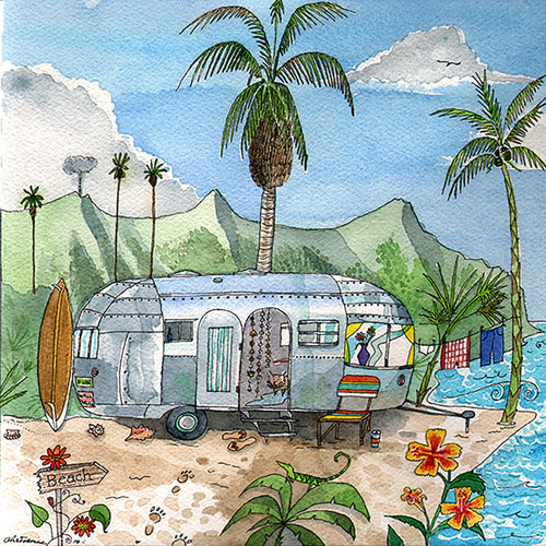 Airstream Paradise - Canvas Print