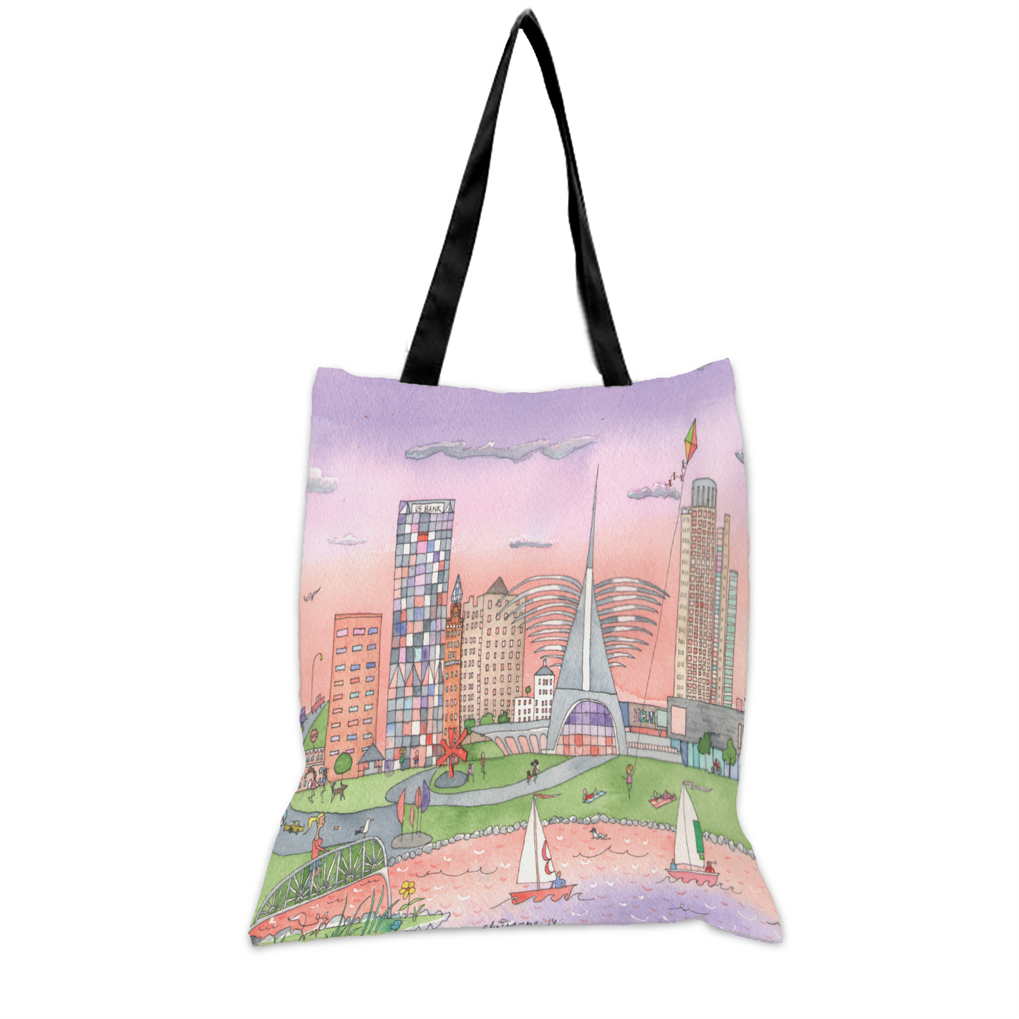 Milwaukee Sunlit Shores 15x17 Tote Bag