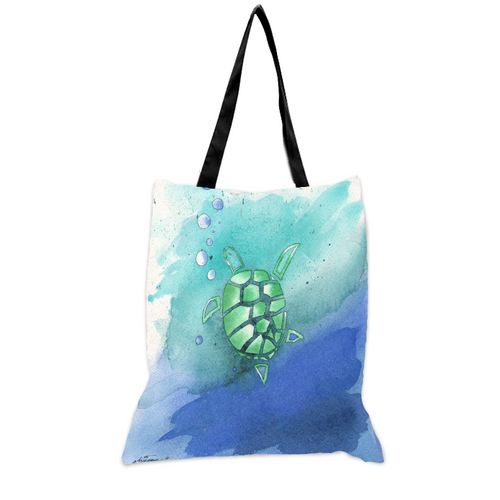 Sea Turtle - 15x17 Tote Bag