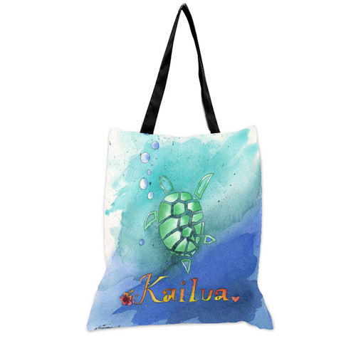 Sea Turtle Kailua - 15x17 Tote Bag