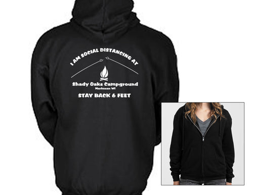 I am Social Distancing at Shady Oaks Campground - Hoodie