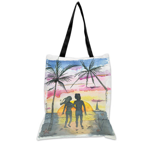Summer Lovers - 15x17 Tote Bag