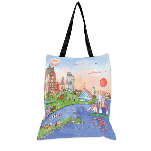 Milwaukee Sunset Dreamer - 15x17 Tote Bag