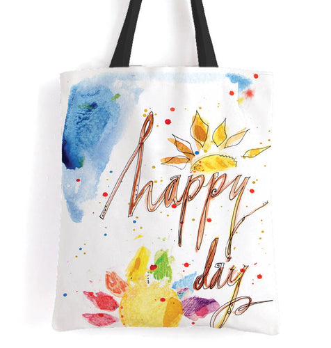 Happy Day Sunshine - 15x17 Tote Bag