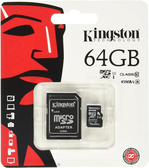 MICRO SD 64GB KINGSTON CLASSE 10