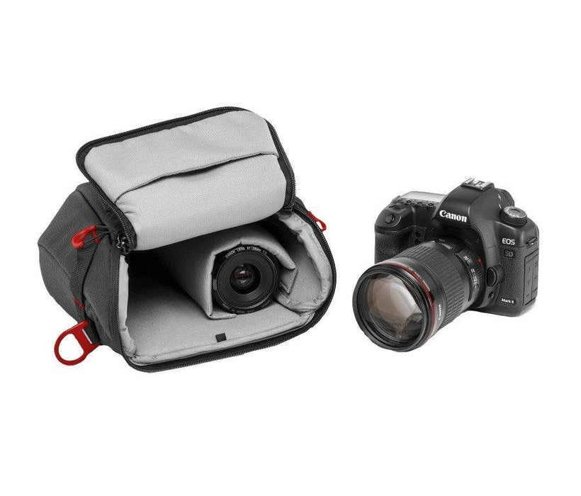 Fondina per fotocamera con 16-35 mm + accessori manfrotto ( MB PL-AH-14 )
