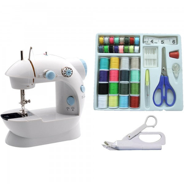 Portable sewing machine with sewing kit and electric scissors LSS-202 Combo