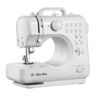 Desktop sewing machine with sewing kit and electric scissors LSS-505+ Combo