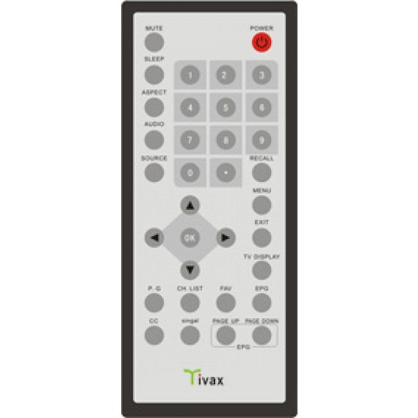 Remote control for portable TV HiRez7 & HiRez9