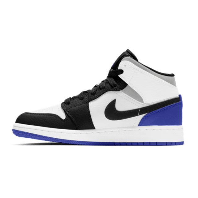 Air Jordan 1 Mid SE White Black Royal (GS)