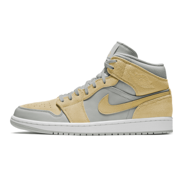 Air Jordan 1 Mid SE Light Bone/Yellow