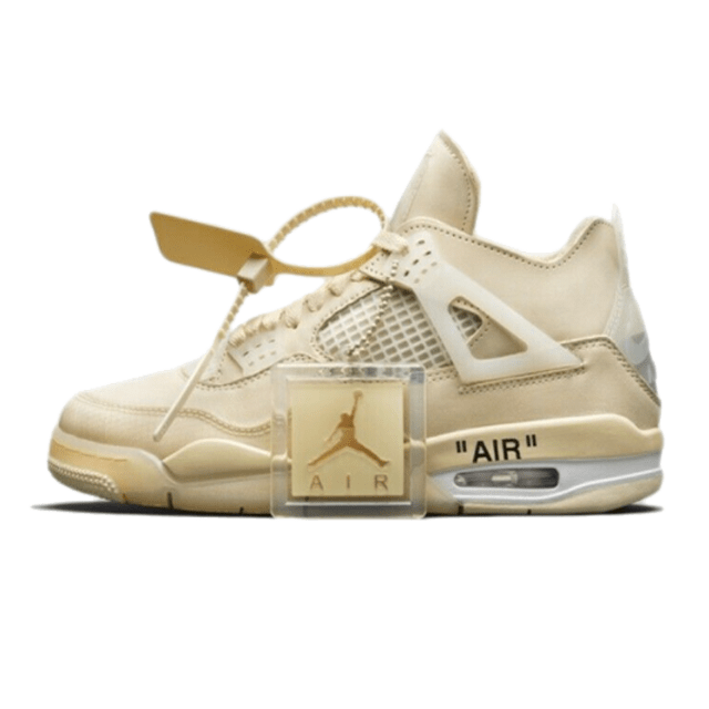 Off-White X Air Jordan 4 SP WMNS 'SAIL'