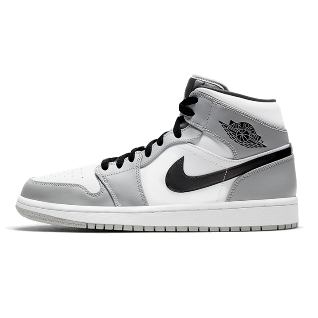 Jordan 1 Mid Light Smoke Gray (GS)