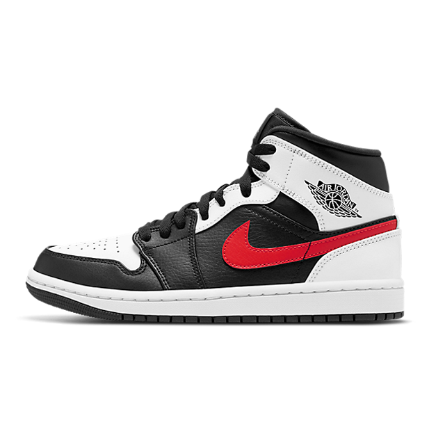 Air Jordan 1 Mid White Black Chile Red (GS)