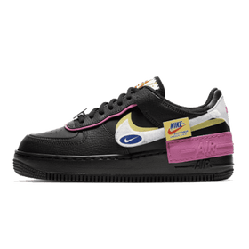 Nike Air Force 1 Shadow Removable Patches Black Pink (W)