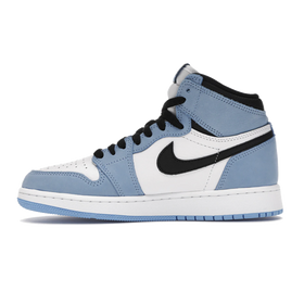 Air Jordan 1 Retro High White University Blue Black GS