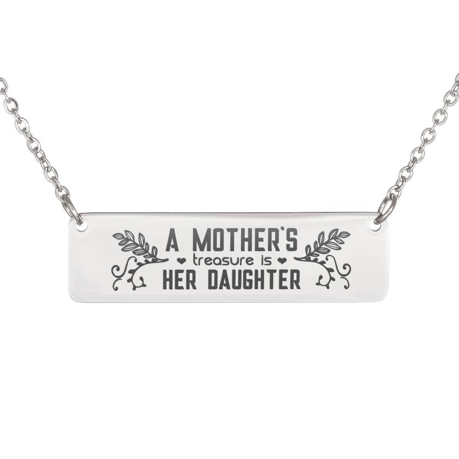 A Mother's Treasure Horizontal Bar Necklace