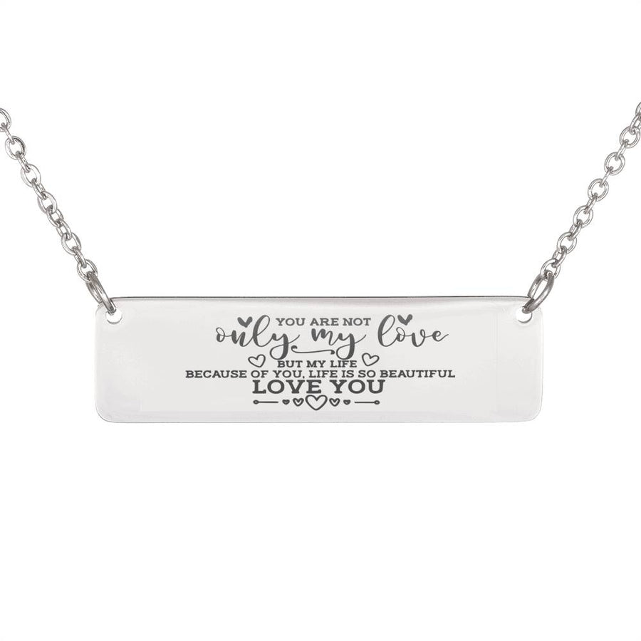 Love Horizontal Bar Necklace 2