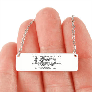 Love Horizontal Bar Necklace 3