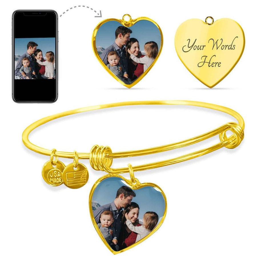 Buyer Upload Heart Luxury Bangle