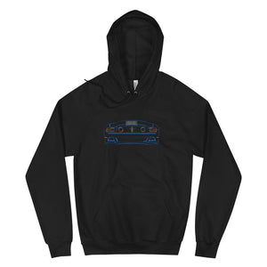 2013 Boss 302 Mustang (Blue) + Taillights | Hoodie