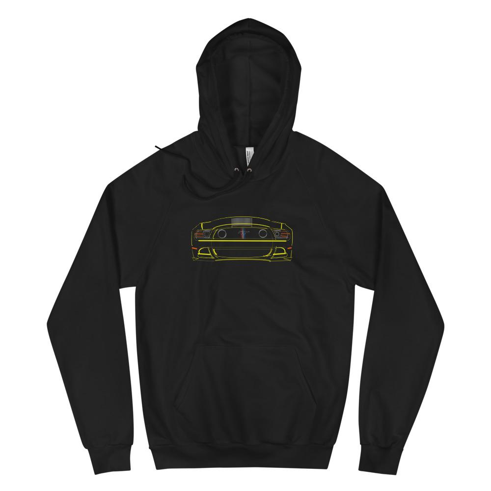 2013 Boss 302 Mustang (Yellow) + Taillights | Hoodie