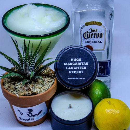 Found It Love It Say It Travel Candle  - Hugs Margaritas Laughter Repeat