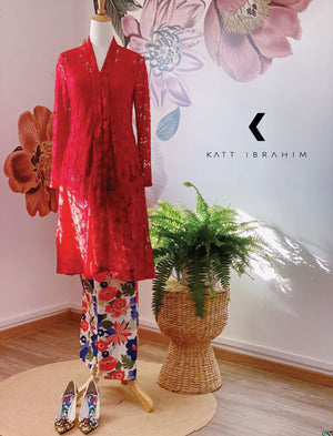 Lace Kebaya Red