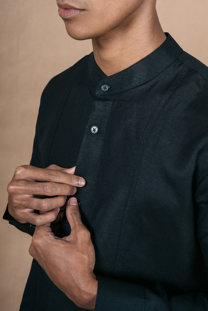 Menswear Linen Black