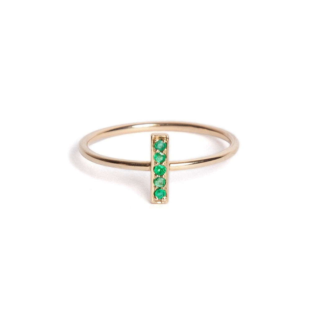 Emerald Rectangle Ring