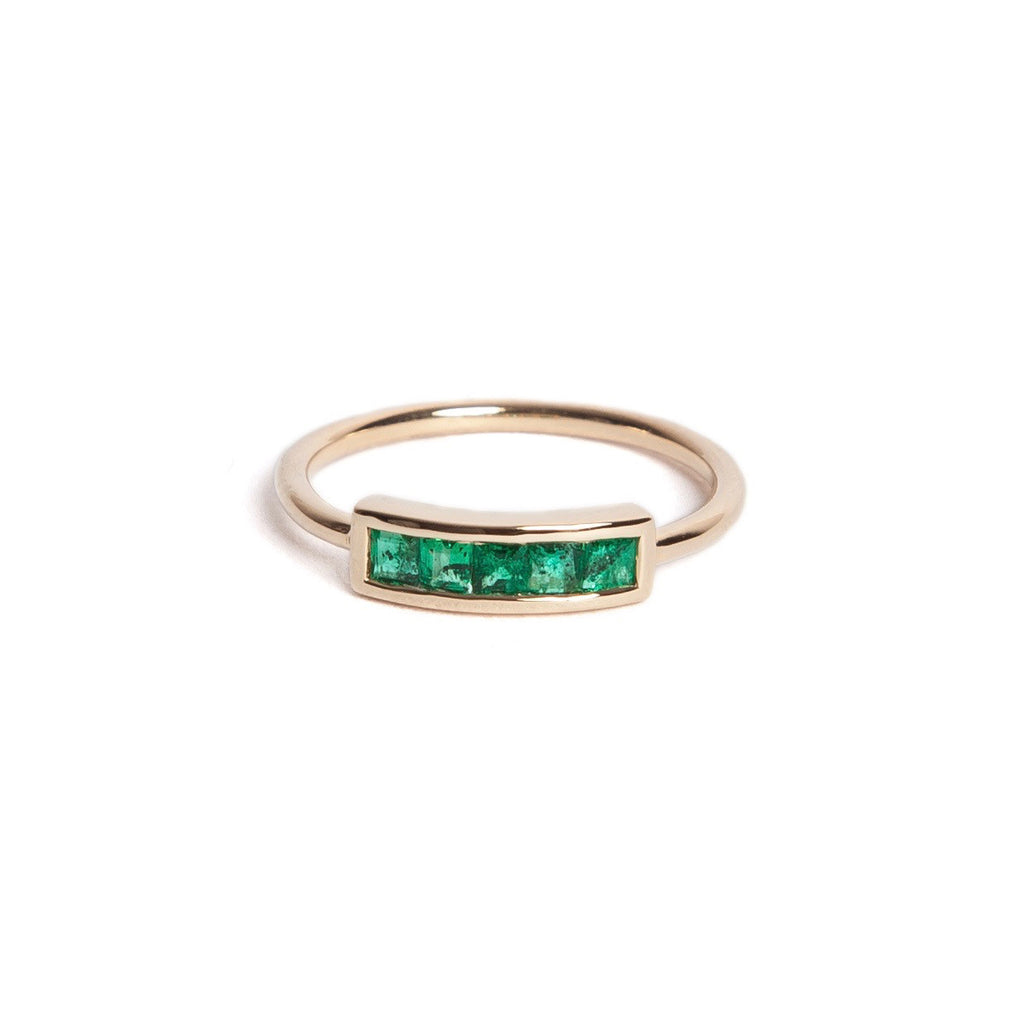 Emerald Pinky Ring