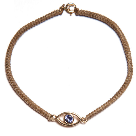 Gold Third Eye Tanzanite Bracelet