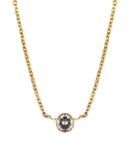 Single Diamond Gold Necklace