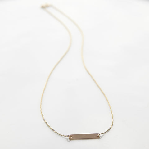 Gold Bar Identity Necklace