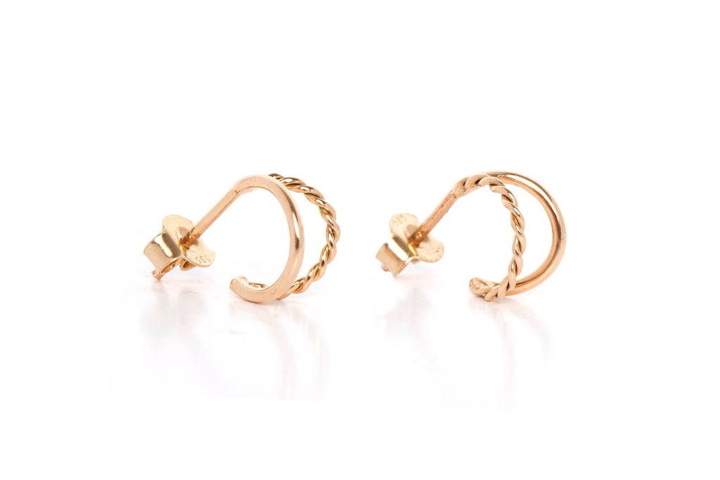 Twisted Double Hoop Earrings