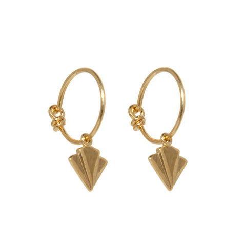 Art Deco Pyramid Earrings