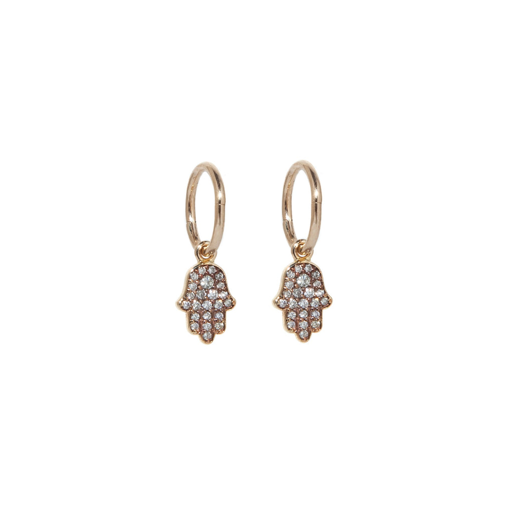 Diamond Hamsa Earrings