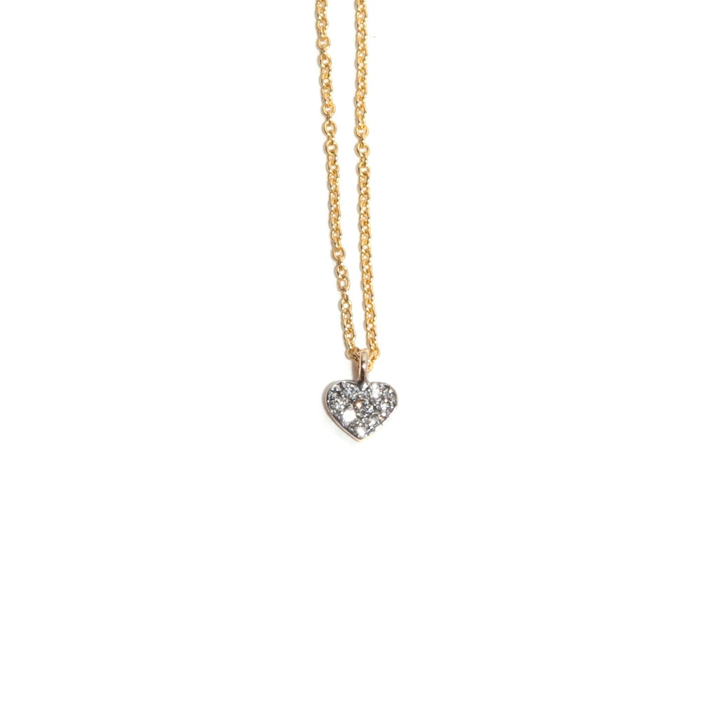 Diamond Heart Necklace (Black)