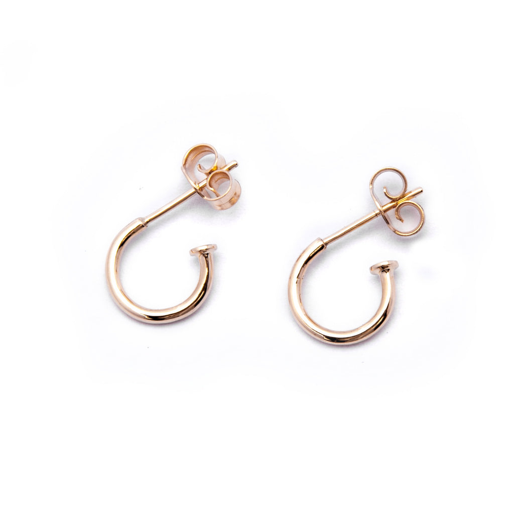 Gold Hoop Earrings (push back)