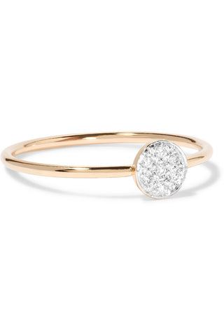 White Diamond Circle Ring