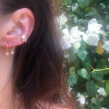 Diamond Star Earrings (White)