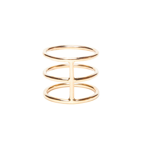 Gladiator Gold Ring