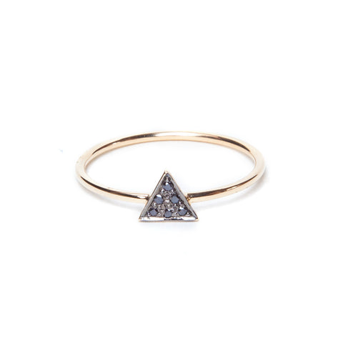 Black Diamond Triangle Stack Ring