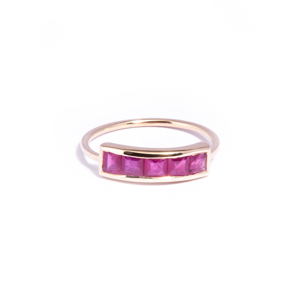 Ruby Pinkie Ring