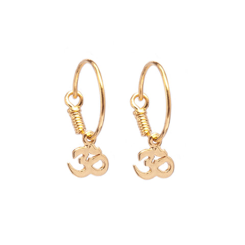 Om Hoop Earrings