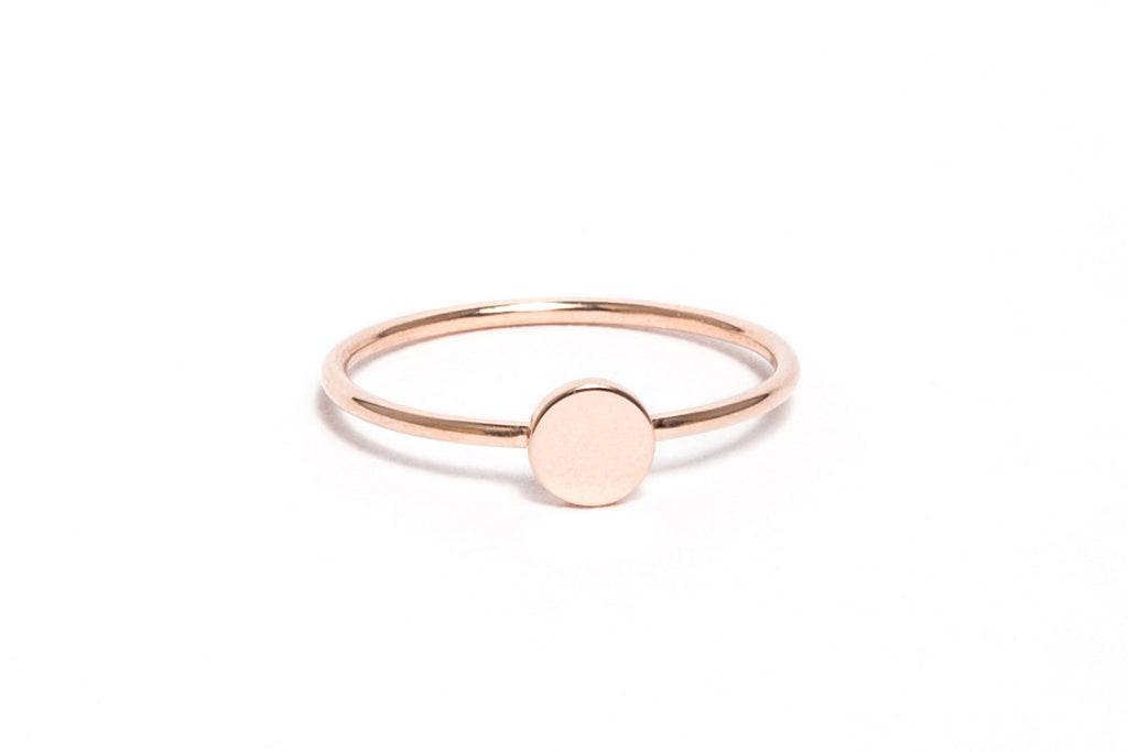 Rose Gold Circle Stack Ring