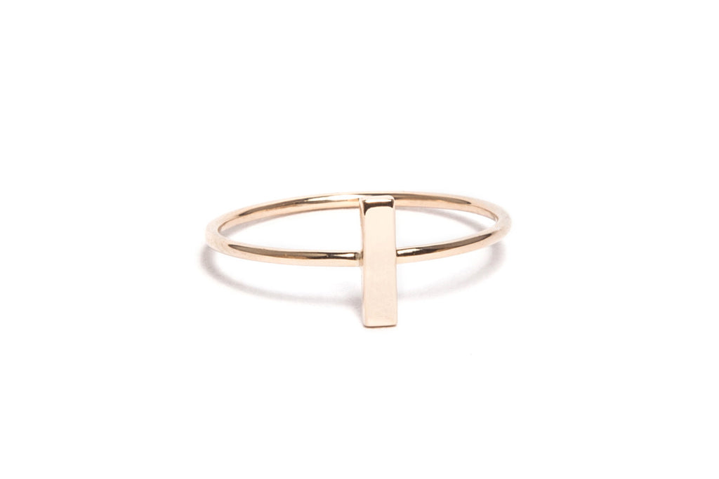 Yellow Gold Rectangle Stack Ring