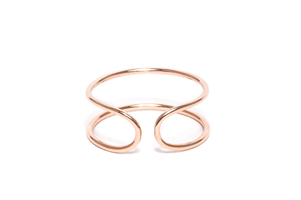 Gold Paperclip Ring